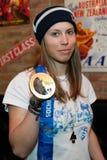 Snowboarder Eva Samkova Zdjęcia Stock