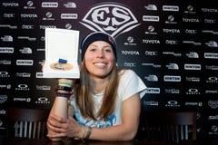 Snowboarder Eva Samkova Zdjęcia Royalty Free