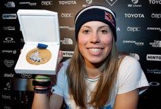 Snowboarder Eva Samkova Royalty Free Stock Photo