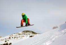 Snowboarder extrême Photographie stock libre de droits