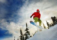 Snowboarder extremo fotografia de stock royalty free