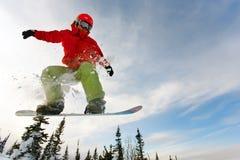 Snowboarder extremo foto de stock