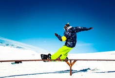 Snowboarder fail Royalty Free Stock Images