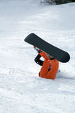 Snowboarder fall. On drop Stock Photography