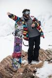 Snowboarder felice Fotografie Stock Libere da Diritti