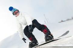 Snowboarder feliz Fotos de archivo