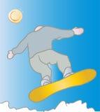 Snowboarder freddo Fotografia Stock Libera da Diritti