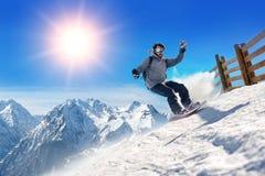 Snowboarder freerider Immagini Stock