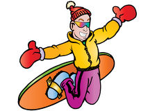 Snowboarder Freestyle Action Royalty Free Stock Images