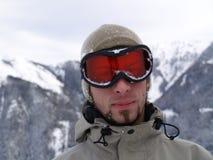 Snowboarder-Gesicht Lizenzfreie Stockbilder