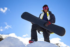 Snowboarder-Gitarren-Held Stockfotografie
