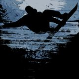 Snowboarder - grunge vector Royalty Free Stock Image
