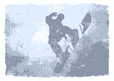 Snowboarder - grunge vector Stock Images