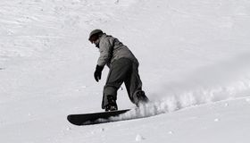 Snowboarder guy Stock Image