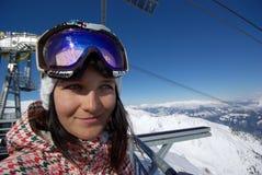 Snowboarder hermoso Imagen de archivo libre de regalías