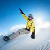 Snowboarder in high mountains Stock Photos