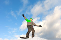 Snowboarder. Stock Photo