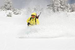 Snowboarder on the hill royalty free stock photos