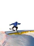 Snowboarder isolado fotografia de stock
