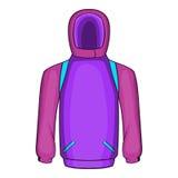 Snowboarder jacket icon, cartoon style Royalty Free Stock Image