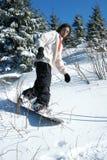 Snowboarder joven Imagen de archivo libre de regalías