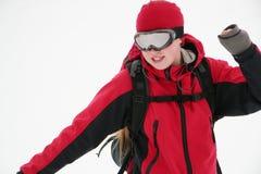 Snowboarder joven Imágenes de archivo libres de regalías