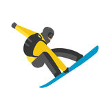 Snowboarder jump in pose people vector. Stock Photos