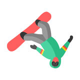 Snowboarder jump in pose people vector. Stock Images