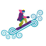 Snowboarder jumping through air Royalty Free Stock Photography