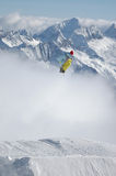 Snowboarder jumping high Royalty Free Stock Photo
