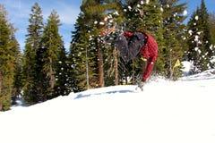 Snowboarder jumping at Northstar California Stock Photos