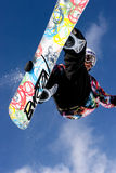 Snowboarder jumping. Royalty Free Stock Image