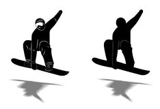 Snowboarder jumping Stock Photos