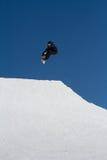Snowboarder jumps in Snow Park,  ski resort Stock Images