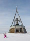 Snowboarder at Kronplatz, South Tyrol Royalty Free Stock Photos