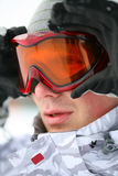 Snowboarder Looking In Goggles Stock Photography