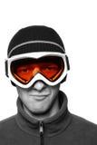 Snowboarder mascherato Immagine Stock