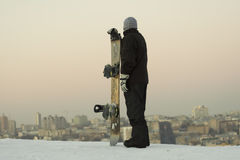 Snowboarder maschio Fotografia Stock Libera da Diritti