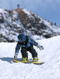 Snowboarder menor Foto de archivo libre de regalías