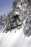 Snowboarder and mountain Royalty Free Stock Photo