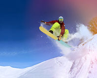 Snowboarder in mountain Stock Image