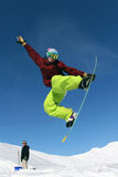 Snowboarder in mountain Stock Photo