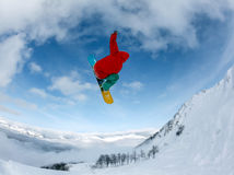 Snowboarder in mountain Royalty Free Stock Image