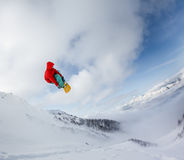 Snowboarder in mountain Royalty Free Stock Photography