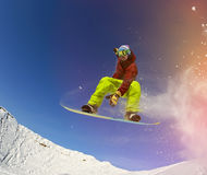 Snowboarder in mountain Stock Photography