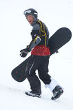 Snowboarder nella difesa Fotografie Stock Libere da Diritti