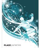 Snowboarder no fundo do inverno Imagem de Stock Royalty Free