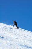 Snowboarder noir image libre de droits