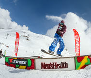 Snowboarder in the park Royalty Free Stock Images