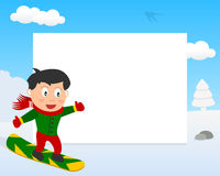 Snowboarder in the Park Horizontal Frame Royalty Free Stock Photos
